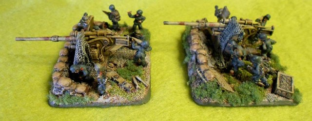 88mm FlaK cannons