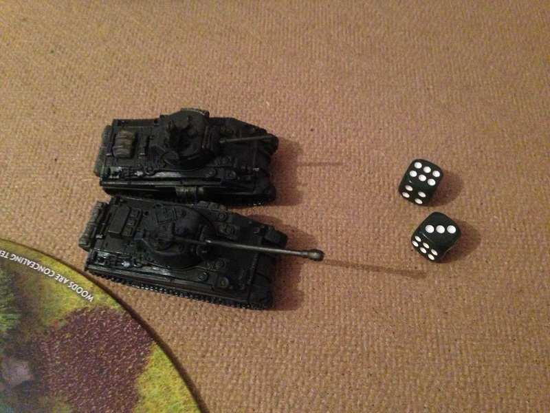 Flames of War Tank on Tank Battle Romania
