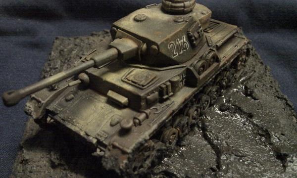 Muddy Panzer IV G by P Watson top view