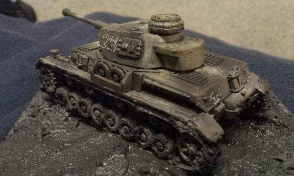 Muddy Panzer IV G by P Watson rear view