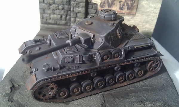 Panzer IV G in urban environment by P Watson front left view
