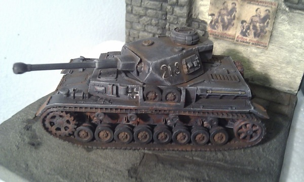 Panzer IV G in urban environment by P Watson left side view