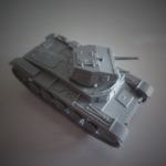 Painting Early War Panzer Grey on a Panzer II