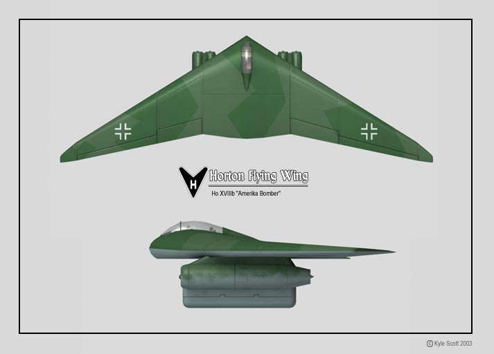 German Secret Weapons Horten Ho XVIIIb
