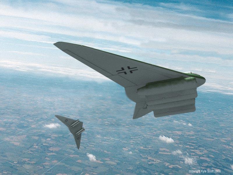 German Secret Weapons Horten Ho XVIIIb