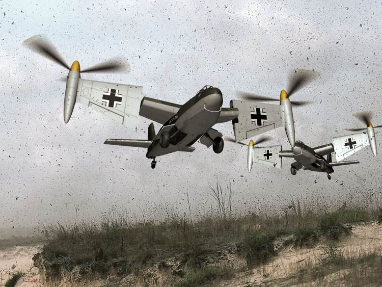 German Secret Weapons Wesserflug We. P1003/1 VTOL