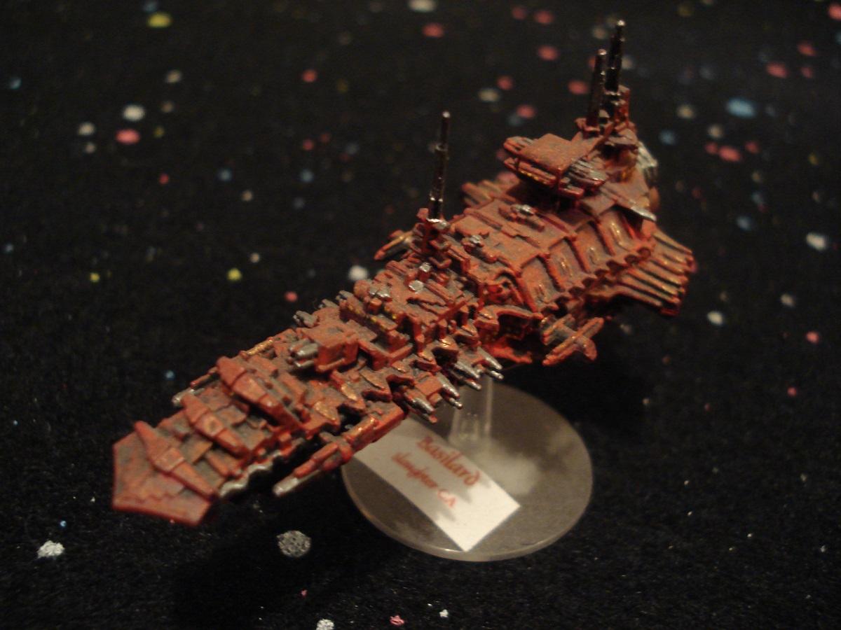 Scratchbuilt Battlefleet Gothic Cruiser